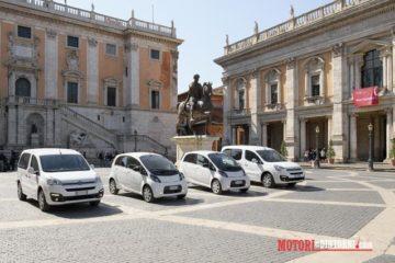 Mobilità sostenibile, Groupe PSA dona quattro veicoli elettrici al Comune di Roma