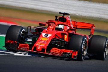 Capolavoro di Vettel e la Ferrari a Silverstone. Secondo Hamilton, terzo Raikkonen