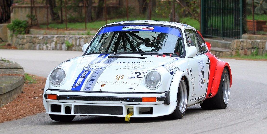 Angelo Lombardo su Porsche 911 vince la cronoscalata del Santuario 2018