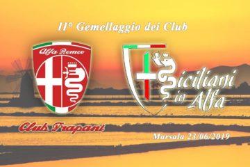 """Il 23 giugno a Marsala il 2° gemellaggio/raduno dell'Alfa Romeo Club Trapani e """"Siciliani in Alfa"""""""