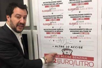 Le accise sui carburanti, la promessa elettorale mai mantenuta da Matteo Salvini