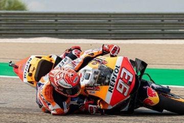 MotoGp ad Aragon, Marquez fa il fenomeno di mattina. Poi tre Yamaha davanti