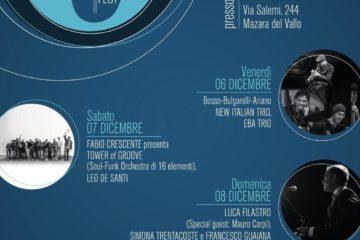 """A Mazara del Vallo dal 6 all'8 dicembre il """"Blue Jazz Fest 2019"""""""